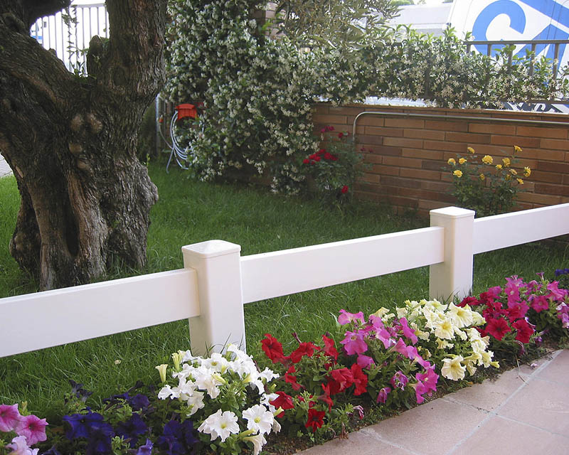 Valla post rail for Cierres de jardin
